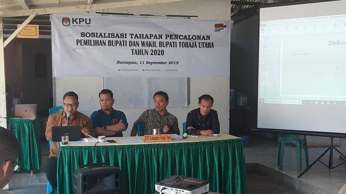 KPU Toraja Utara Mulai Sosialisasikan Tahapan Pencalonan Pilkada 2020