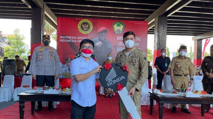 1 Unit Motor Honda Jadi Grandprize Vaksinasi Massal Pelajar di Gowa