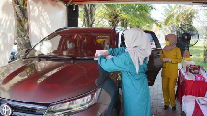 Sedang Berlangsung Kalla Toyota Vaksinasi Drive Thru di Pantai Akkarena, Ada Doorprize