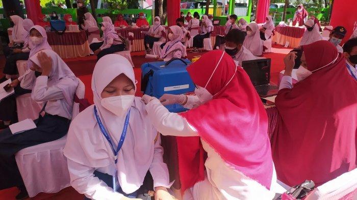 Kemenag Sinjai Vaksin 100 Siswa Madrasah MTs & MA