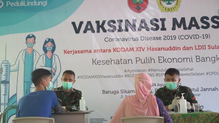 Vaksinasi Massal LDII Sulsel-Kodam XIV/Hasanuddin Siapkan 1.200 Dosis Vaksin Sinovac