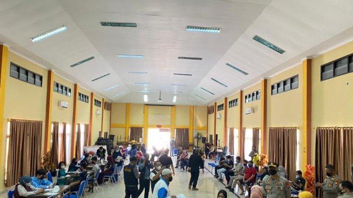 Vaksinasi Massal Polres Bantaeng, 1.545 Orang Telah Divaksin