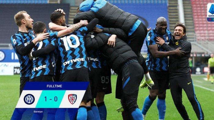 Video Conte Kegirangan Rayakan Gol Tunggal Inter Milan Saat Tekuk Cagliari, Scudetto Tak Lama Lagi