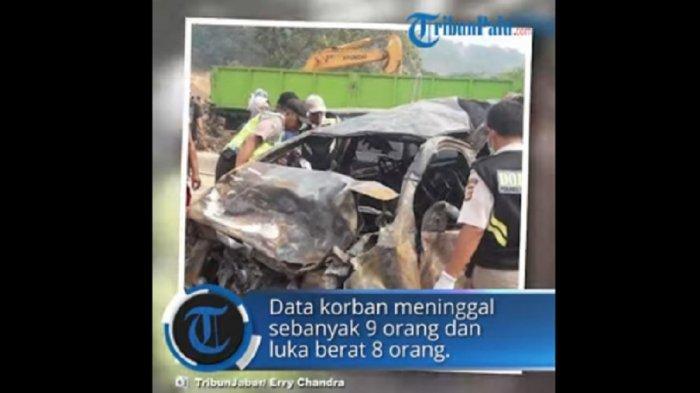 Video Detik-detik Kecelakaan Maut di Tol Cipularang Libatkan 21 Mobil, 9 Tewas: Mobil Terbakar