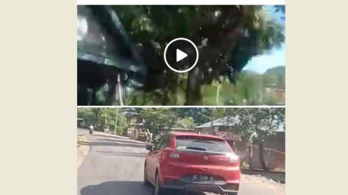 Terekam Kamera, Minibus Merah Tabrak Pengendara Motor di Majene Lalu Kabur