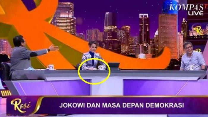 VIDEO Rosi Kompas TV Gebrak Meja Susah Lerai Debat Jubir Presiden Jokowi & Rocky Gerung