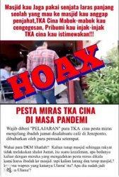 Video TKA China Pesta Miras di Jeneponto saat Masa Pandemi Covid 19 Ternyata Hoaks