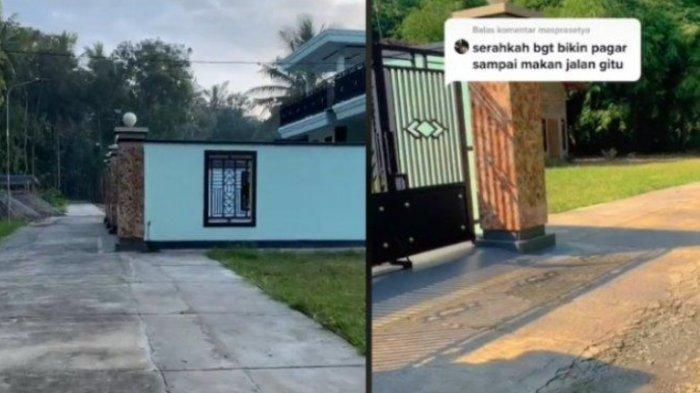VIRAL Video Pagar Rumah Seorang Warganet Dituding Serakah Dibangun di Atas Jalan, Ini Klarifikasinya