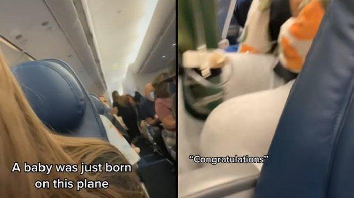 VIDEO Detik-detik Seorang Ibu Melahirkan dalam Penerbangan Melintasi Samudera, Penumpang Bersorak