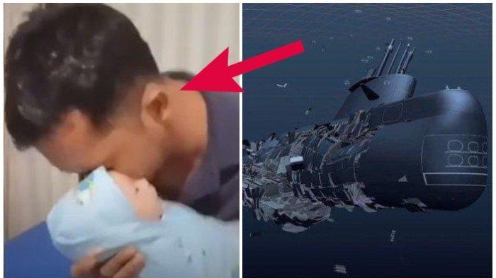 VIDEO Viral Serda Purwanto Azankan Anaknya Sebelum Naik ke KRI Naggala 402, Perhatikan Reaksi Bayi