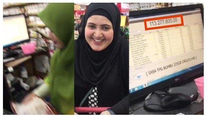 VIDEO Viral Total Belanjaan Istri di Supermarket Rp 114 Juta, Suami dan Petugas Kasir Panik