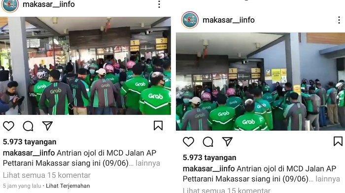 Satpol PP Bubarkan Kerumunan Ojol Antre BTS Meal di McD AP Pettarani Makassar