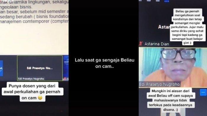 VIRAL Kisah Edi Prasetyo Dosen Selalu Matikan Kamera saat Kelas Online,Alasan di Baliknya Bikin Haru