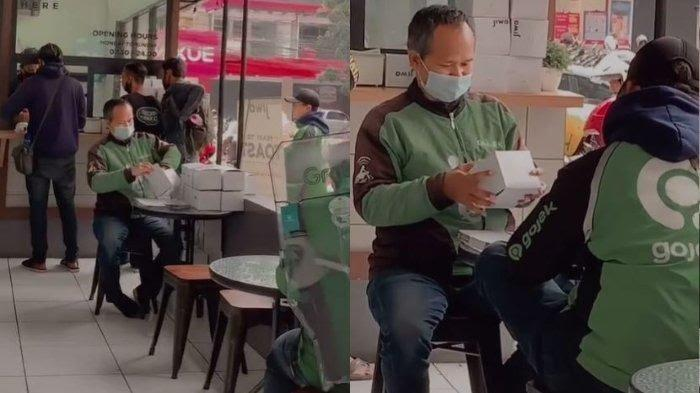 VIDEO: Viral Potret Ojol Bantu Lipat Boks Makanan saat Tunggu Orderan, Netizen Ramai Mendoakan