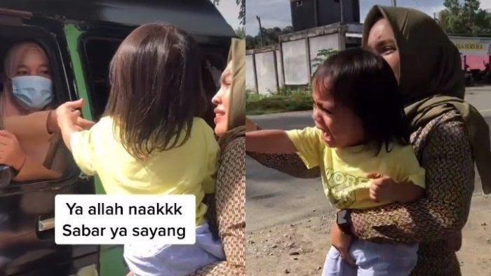 VIDEO Viral Momen Haru Bocah Histeris Ditinggal Baby Sitter Pulang Kampung dan Tak Kembali