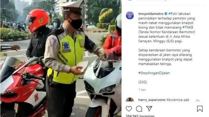 VIDEO Viral Rombongan Ducati Sunmori Dicegat Polisi, ini Cerita Baliknya