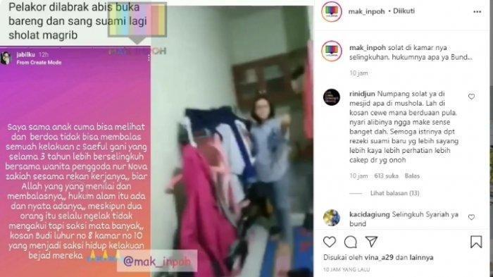Viral Suami Pura-pura Sholat Saat Digerebek Istri Sah Ngamar dengan Wanita Selingkuhan