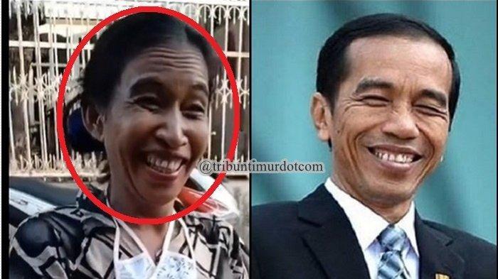 VIRAL Video Emak-emak Disebut Mirip Presiden Jokowi, Perekam: Saudara dengan Pak Presiden kah?