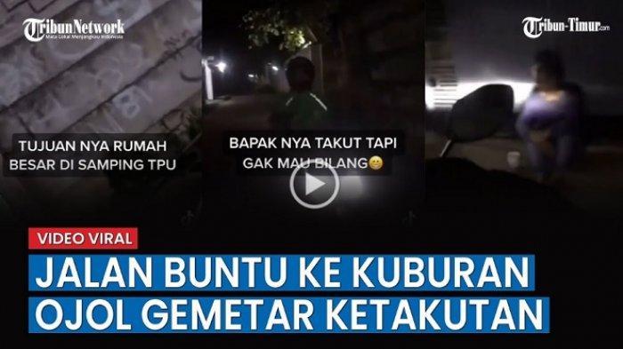 Video Ojol Gemetar Ketakutan Ketemu Jalan Buntu yang Ternyata Kuburan, Nasib Orderannya?