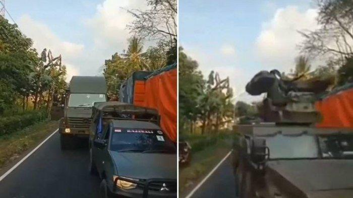 VIDEO Viral Pengemudi Truk Tak Berikan Jalan ke Rombongan Alutsista TNI, ini Cerita di Baliknya