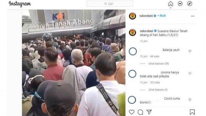 VIDEO Viral Penumpang Berdesakan di Stasiun Tanah Abang, Ini Kata Manajemen KAI