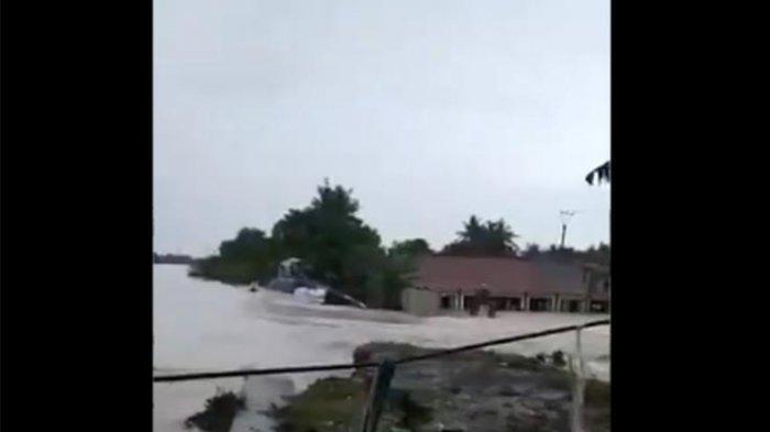 VIDEO: Viral Tanggul Sungai Citarum Jebol, 5 Rumah Warga Dikabarkan Hanyut