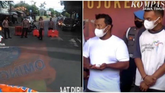 VIDEO Viral Sopir Truk di Mojokerto yang Sempat Maki-maki Polisi saat Jalan Ditutup, Kini Diamankan