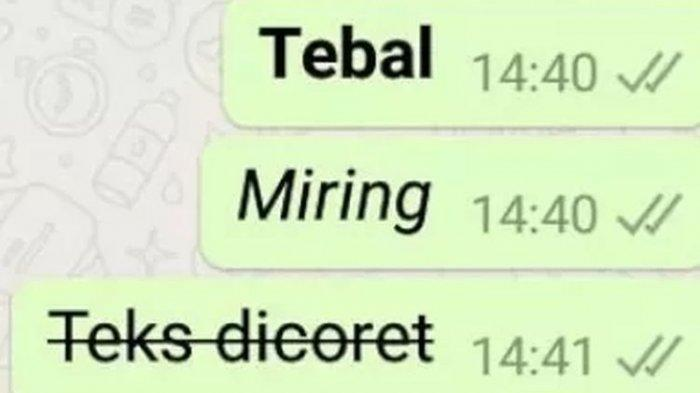 Cara Mengubah Tulisan di WhatsApp Menjadi Tebal, Miring, dan Teks Dicoret