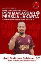 Nurdin Abdullah Jadwal Ulang Nonton PSM Makassar, Sudirman: Sudah Ada Bajuku