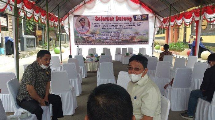 Wabup dan Forkopimda Toraja Utara Sambut Plt Gubernur Sulsel di Lapangan Bakti