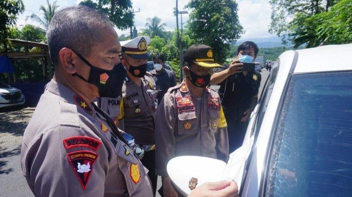 Wakapolda Sulbar Cek Kesiapan Posko Penyekatan Mudik di Perbatasan Polman-Pinrang