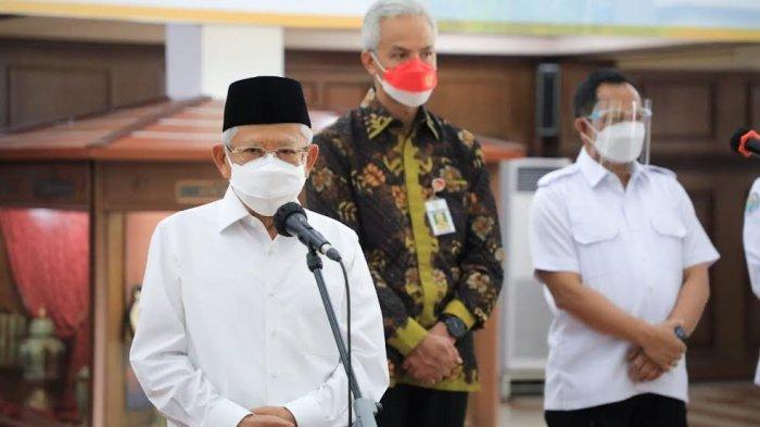 Didampingi Ganjar, Wapres Ma'ruf Amin Dialog dengan Pelaku UMKM Jateng - wakil-presiden-maruf-amin-kunjungan-kerja-ke-semarang-2.jpg