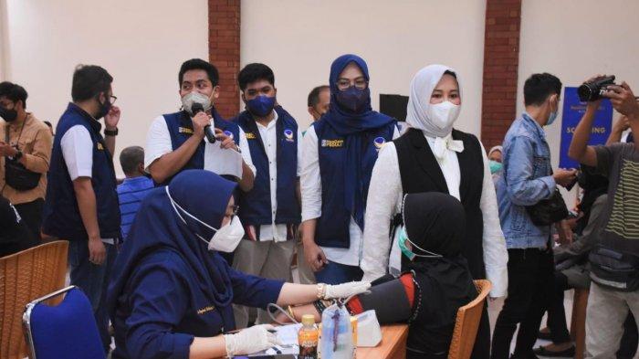 Fatmawati Rusdi Pantau Vaksinasi Covid-19 di Nasdem Makassar