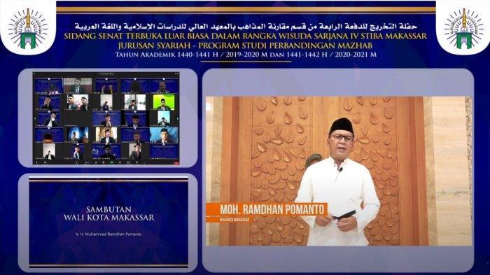 Pesan Wali Kota Makassar Danny Pomanto buat Wisudawan STIBA: Gelar Saja Tak Cukup