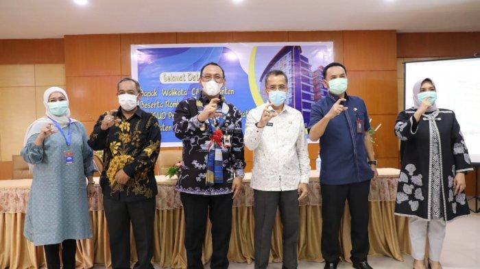 Walikota Cilegon, H Helldy Agustian bersama jajaran Pemerintah Kabupaten Bantaeng, Kamis (1/4/2021) pagi.