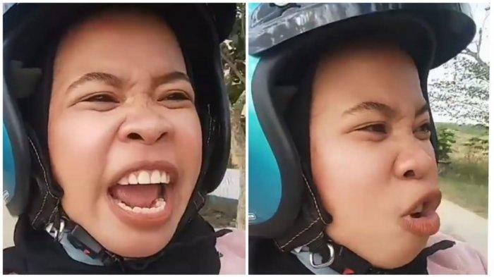 Viral Wanita Naik Motor Ucapkan Selamat Hari Jadi Bone Sambil Teriak Keluhkan Jalanan Rusak