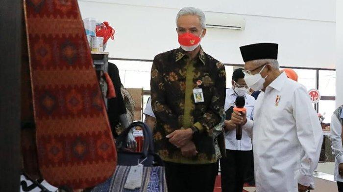 Didampingi Ganjar, Wapres Ma'ruf Amin Dialog dengan Pelaku UMKM Jateng - wapres-kunjungan-kerja-ke-semarang-didampingi-ganjar.jpg