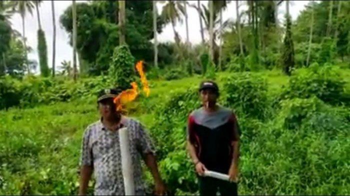 Warga Temukan Sumber Gas di Desa Pompengan Pantai Luwu