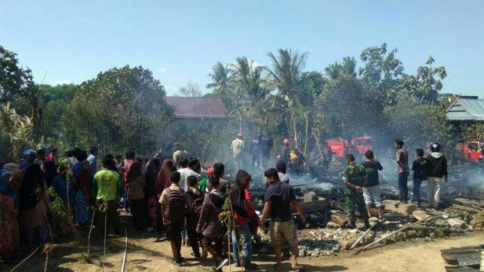 Kebakaran di Pammana Wajo, 2 Rumah Panggung Rata dengan Tanah