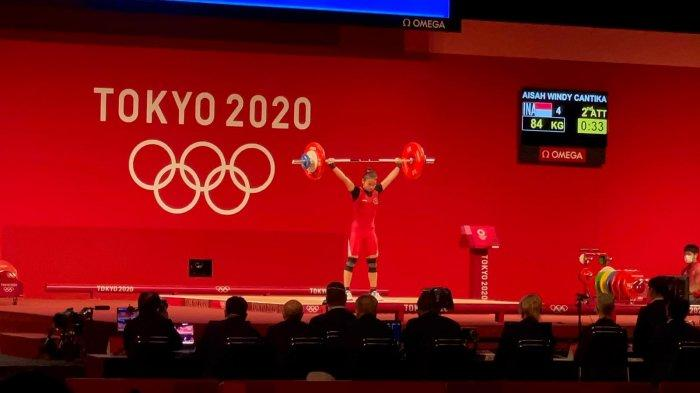 Olimpiade Tokyo 2020 - Raih Perunggu Lifter Windy Cantika Aisyah Bawa Indonesia Urutan 10 Klasemen