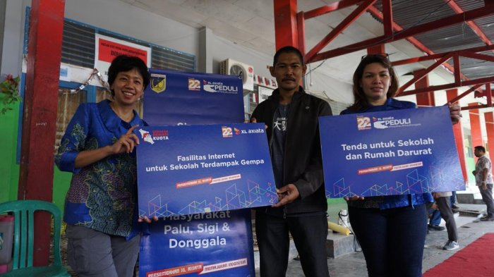 Bantu Pemulihan Sulteng Pascagempa, XL Bakal Dirikan Sekolah Darurat di Palu