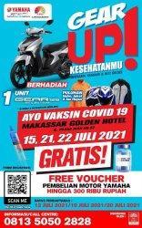 Ikut Vaksinasi Covid-19 Bisa Dapat 1 Unit Motor Yamaha