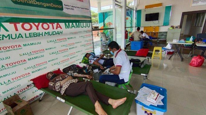 Gandeng TNI dan Polri, Yayasan Hadji Kalla dan Kalla Toyota Mamuju Gelar Donor Darah