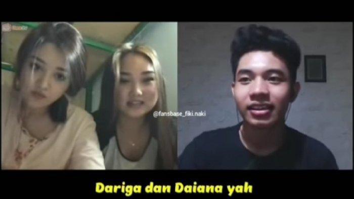 Fiki Naki berbincang di Ome TV bersama dua gadis Kazakhstan
