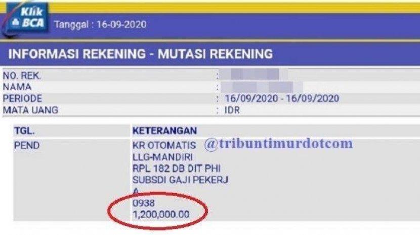Bsu Blt Bpjs Gel 2 Sudah Cair Di Rekening Bank Mandiri Bri Bni Bca Bank Swasta Cek Nama Via Sso Tribun Timur