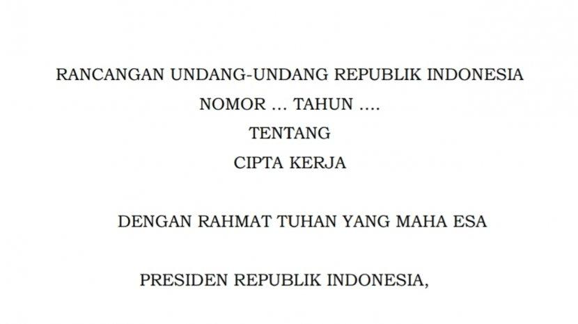 Omnibus Law Pdf Baca Isi Lengkap Omnibus Law Ciptaker Disahkan 5 Oktober 2020 Meski Ditolak Buruh Tribun Timur