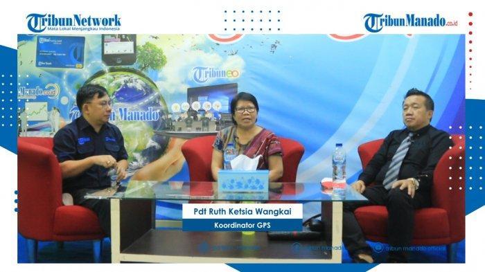 TRIBUN BAKU DAPA - Bersama Pdt Ruth Ketsia Wangkai dan Sofyan Jimmy Yosadi SH, Wakil Sekjen PERADI