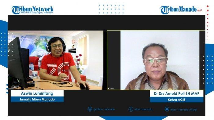 TRIBUN BAKU DAPA bersama nara sumber Dr Drs Arnold Poli SH MAP, Ketua AGIS