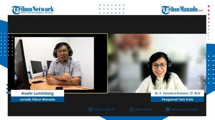 TRIBUN BAKU DAPA dengan nara sumber Dr Ir Veronica Kumurur ST, M.Si dengan pemandu acara Aswin Lumintang, Jurnalis Tribun Manado