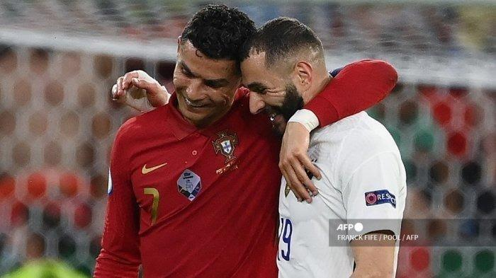 Hasil Euro 2020 Portugal 2-2 Prancis, CR7 Top Skor, Benzema Cetak Brace